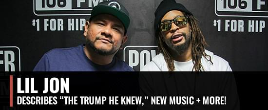 "Lil Jon Describes ""The Trump He Knew,"" Favorite Studio Moment With Ice Cube & More!"