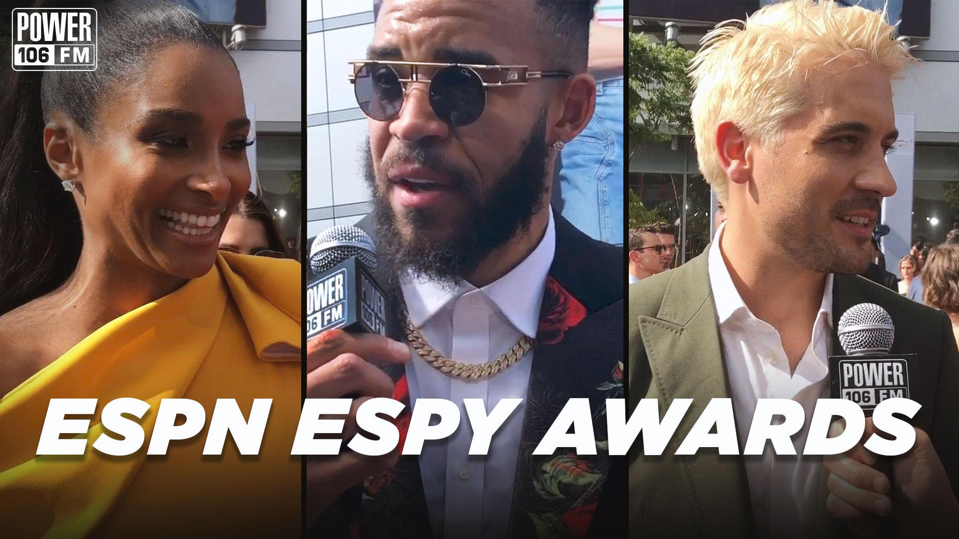 Jeff G Took Over The Espy Awards Red Carpet With G-Eazy, Ciara, JaVale McGee + MORE! [WATCH]