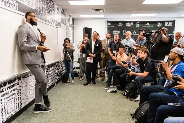 LeBron James Officially Opens I Promise School Elementary In Akron, Ohio