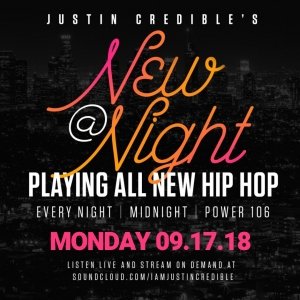 """Justin Credible's """"New At Night"""" 9.17.18 [LISTEN]"""