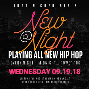 """Justin Credible's """"New At Night"""" 9.19.18 [LISTEN]"""