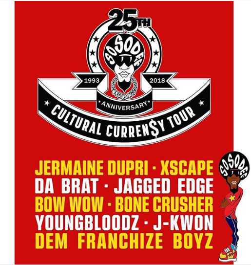 Jermaine Dupri just announced his iconic label s 25th anniversary tour. So  So Def Records is turning 25 this year and Dupri is making sure it s  honored as ... 92bcfbab6