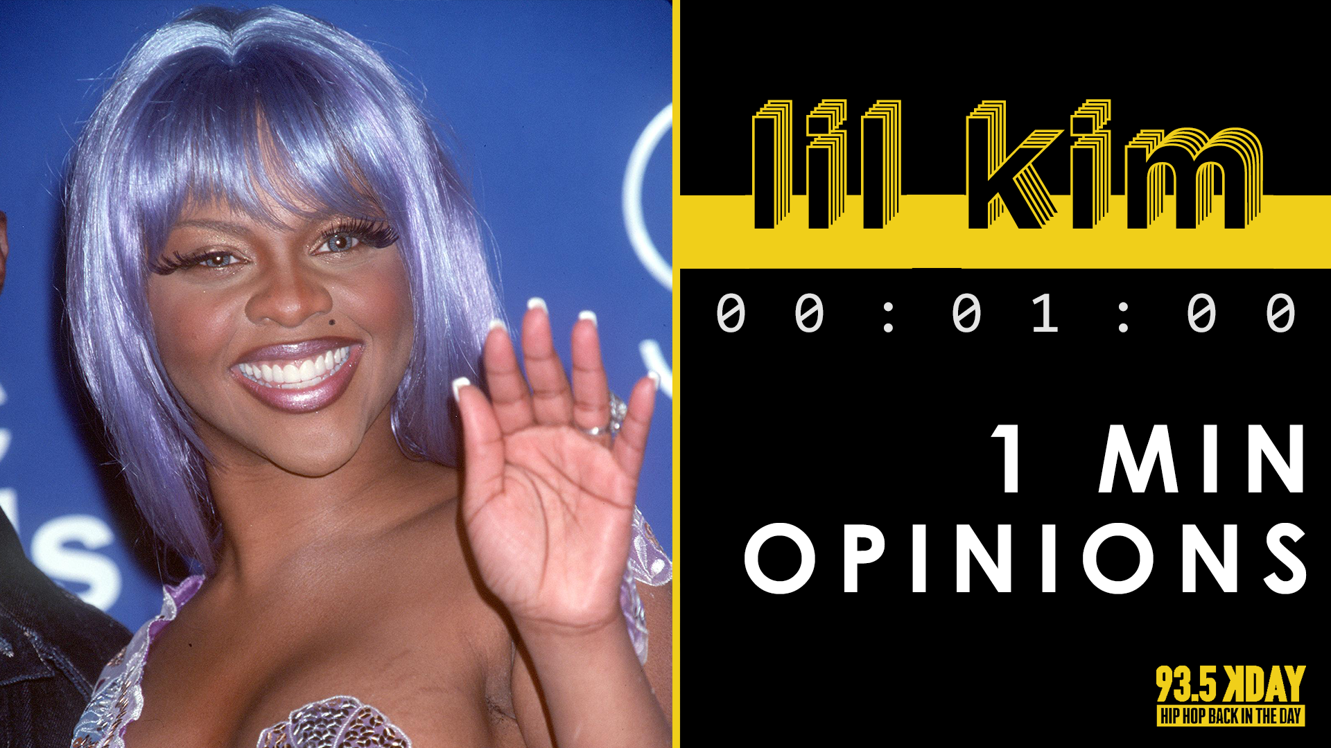 KDAY Hosts Share Their '1 Minute Opinions' On Lil' Kim [WATCH]