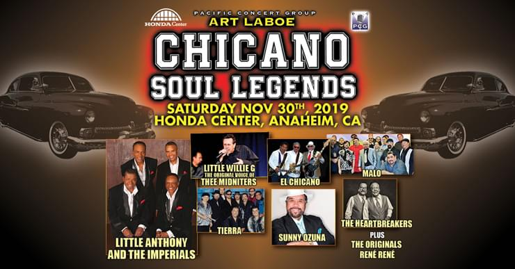 Listen to CeCe and Romeo mornings 6-10a 93.5 KDAY Enter for your chance to win tix to Chicano Legends coming to The Honda Center November 30th 2019!
