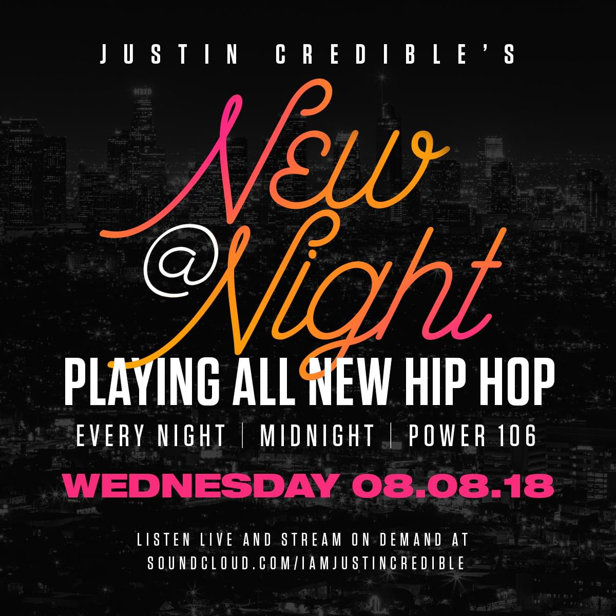 """Justin Credible's """"New At Night"""" 8.08.18 [LISTEN]"""