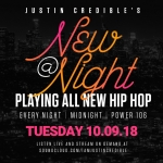 """Justin Credible's """"New At Night"""" 10.09.18 [LISTEN]"""
