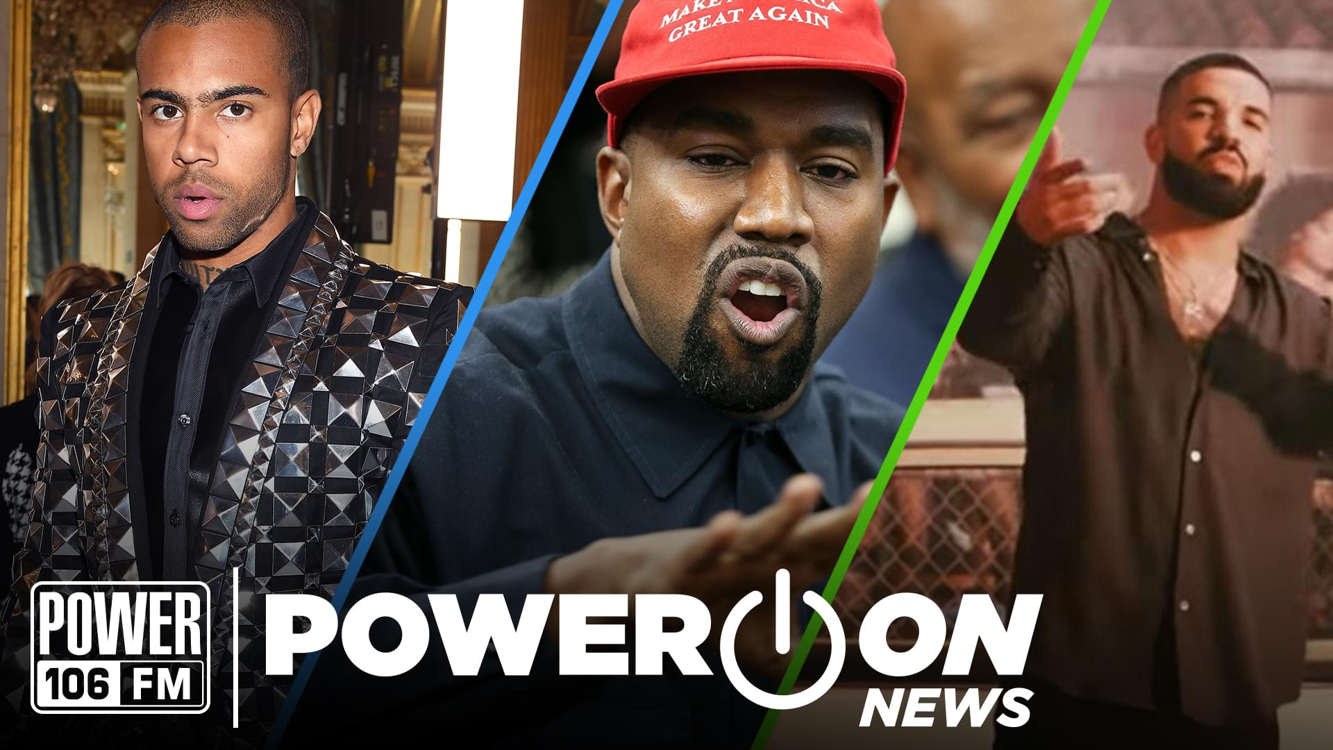 #PowerOn: Kanye Sits W/Trump, Drake Raps in Spanish, Vic Mensa Disses XXXTentacion