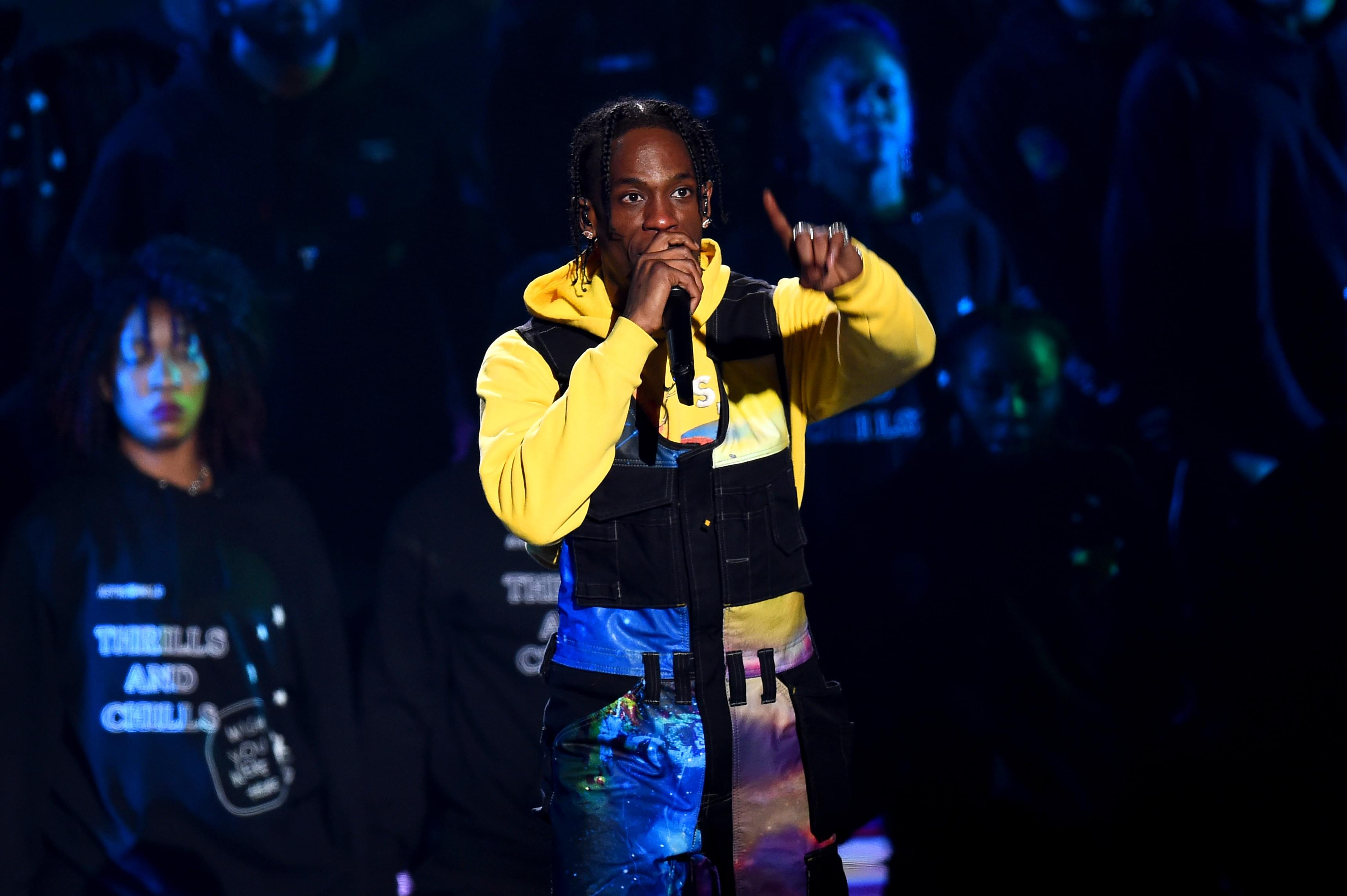 df57cba410b0 Travis Scott Shows His Support For Democratic Party Nominee, Beto O ...