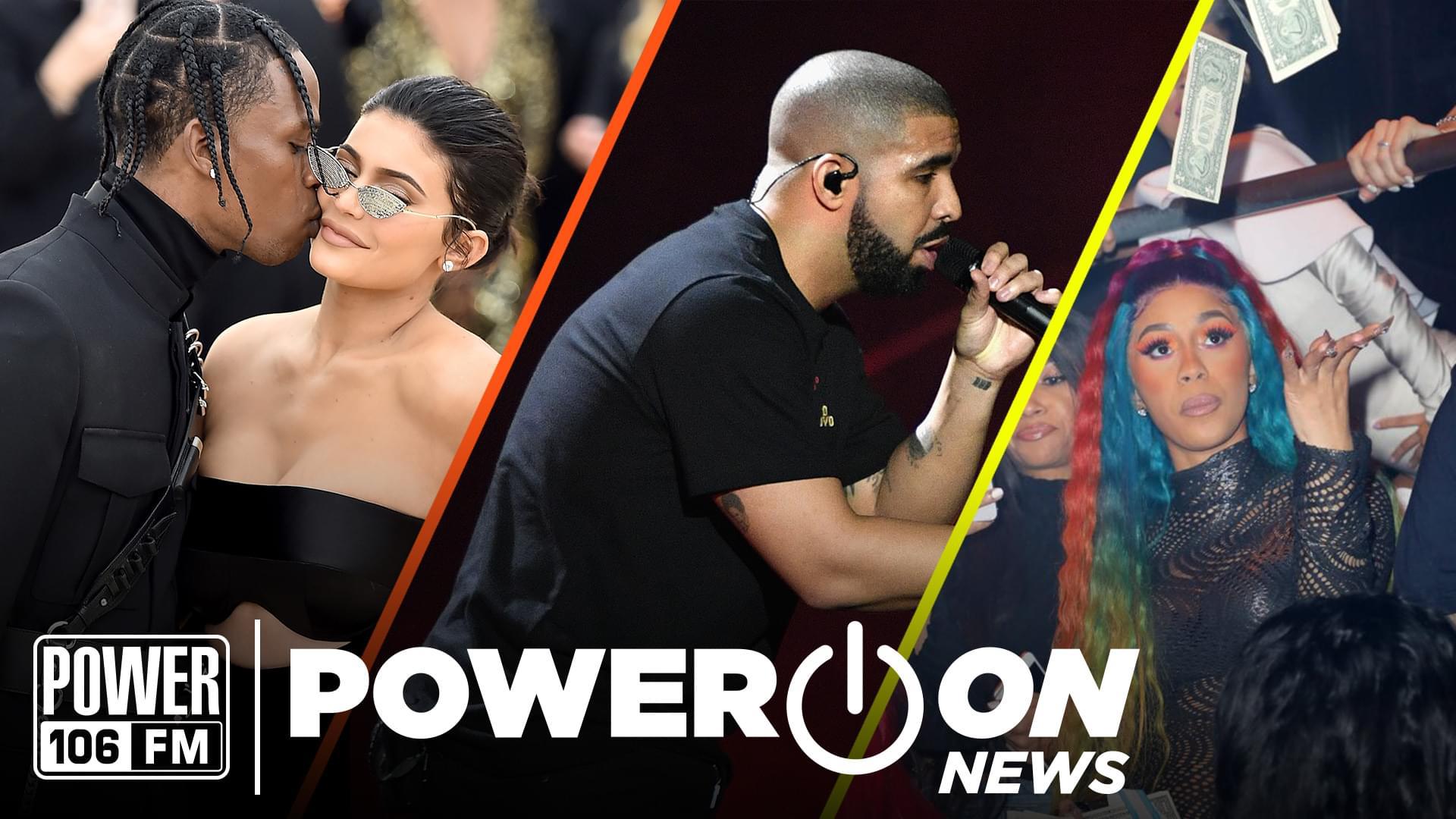 #PowerOn: Travis Scott Cheating Scandal Exposed, Cardi B Unbothered After Offset Break Up + Drake & Nicki Drama