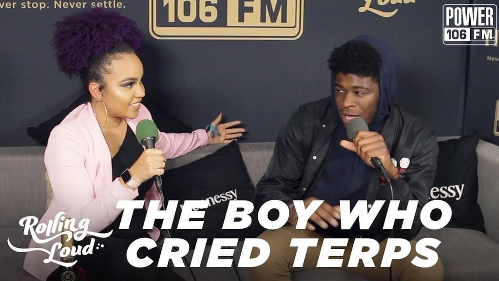The Boy Who Cried Terps Explains His Name + Says His Dream Collab Didn't Perform Rolling Loud