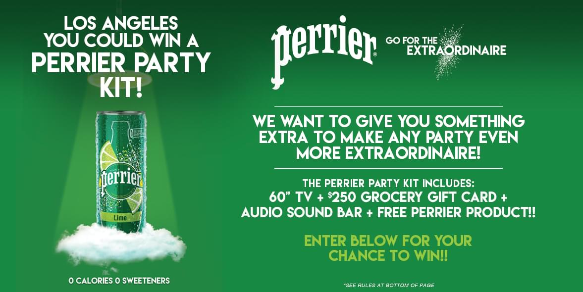 Perrier Your Party Sweepstakes | KPWR-FM