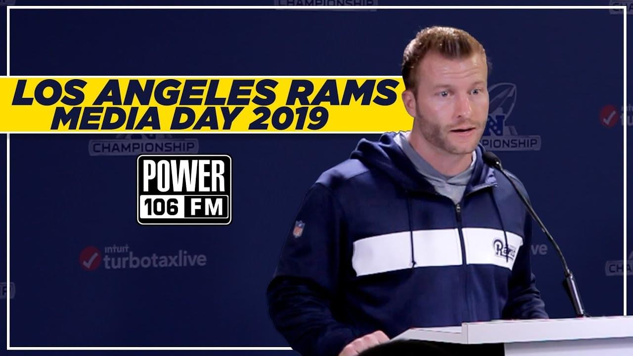Rams Head Coach Sean McVay On Upcoming NFC Championship Game
