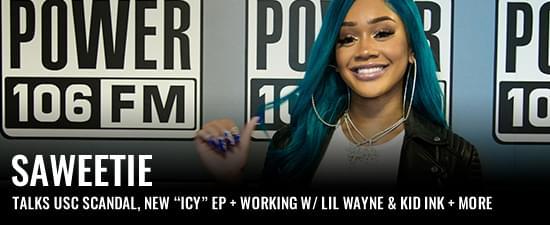 "Saweetie Talks USC Scandal, Starting Her Own Label, New ""ICY"" EP + Working W/ Lil Wayne & Kid Ink"