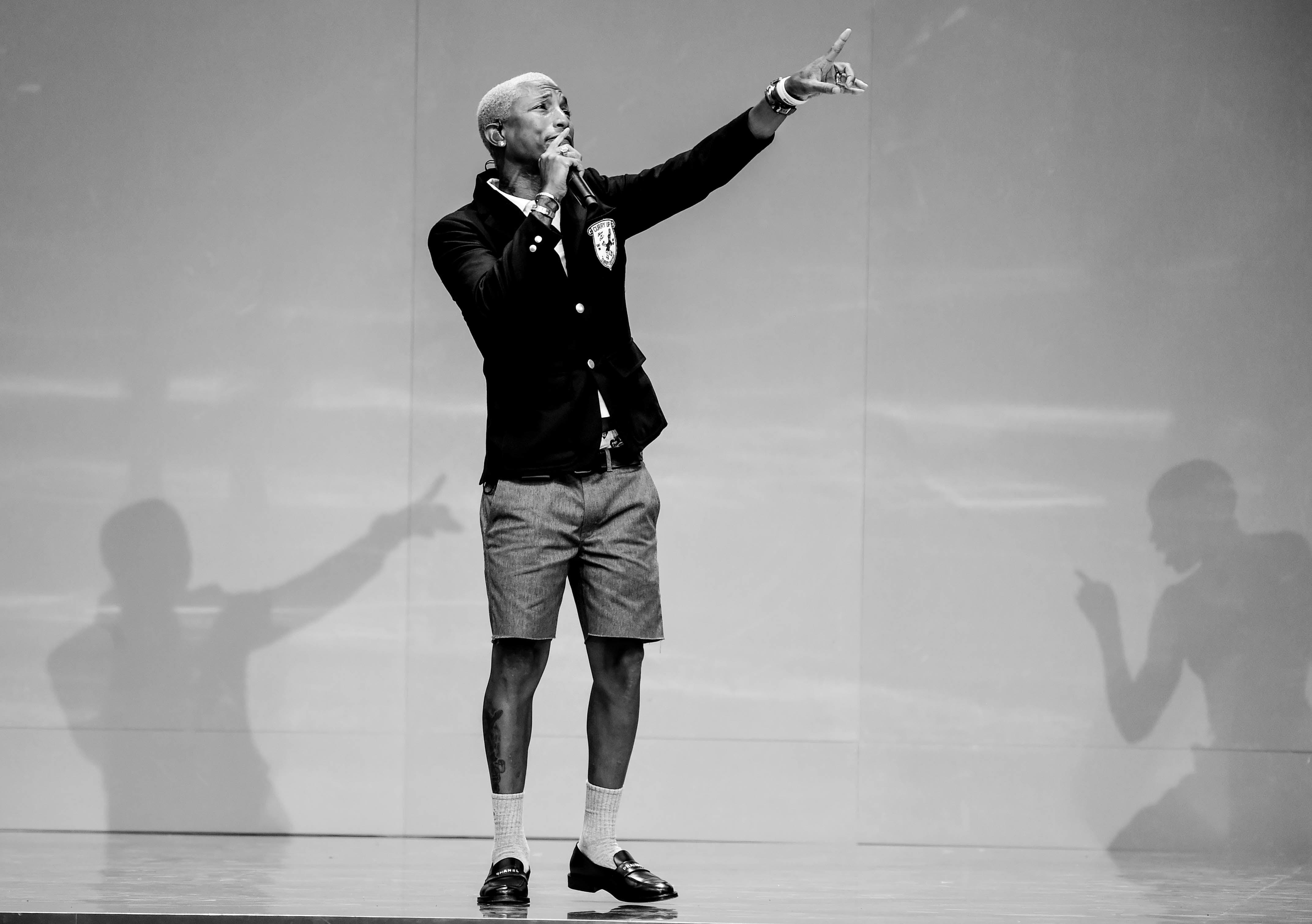 Pharrell Promises Summer Internships to 114 Graduating Harlem Seniors