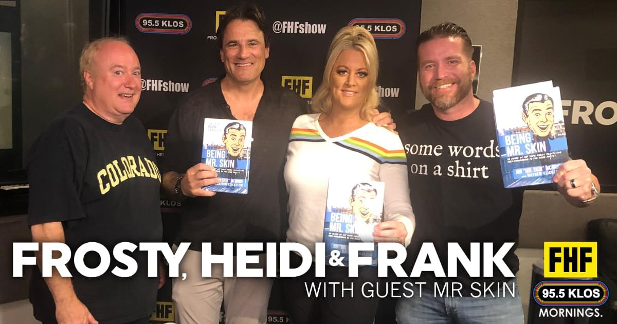 Frosty, Heidi and Frank with guest Mr Skin