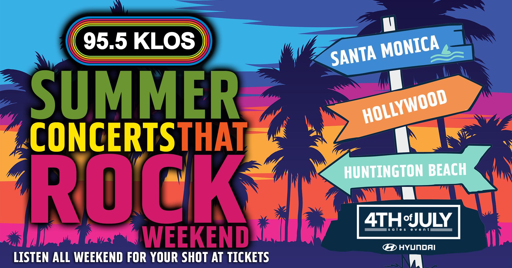 Summer Concerts That Rock Weekend!