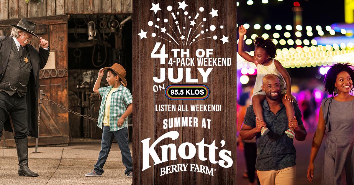 KLOS Knott's Berry Farm 4th of July, 4-Pack Weekend!