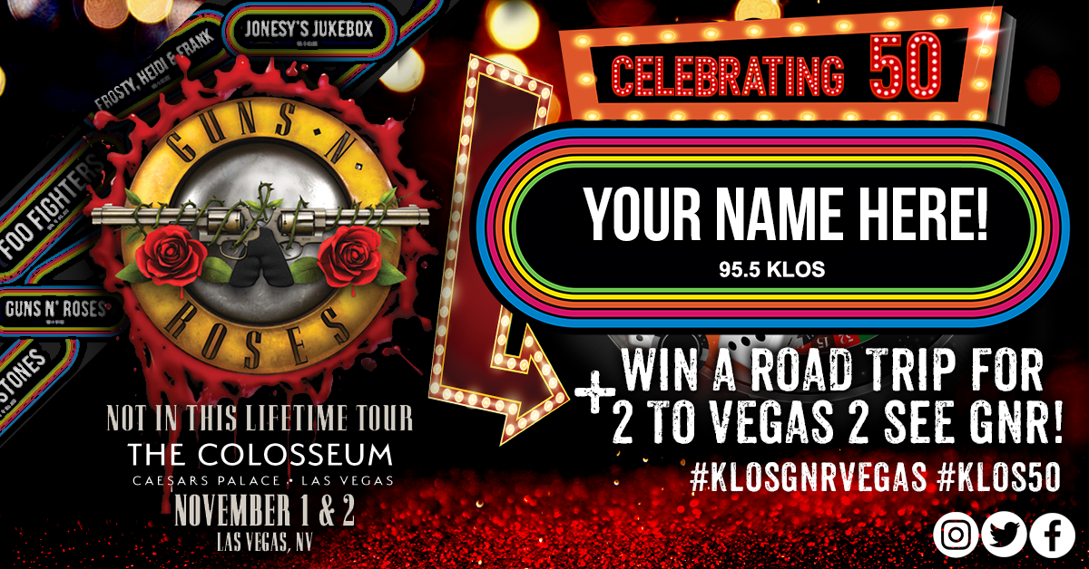 Customize a KLOS logo  You could Win a Road Trip to See GNR
