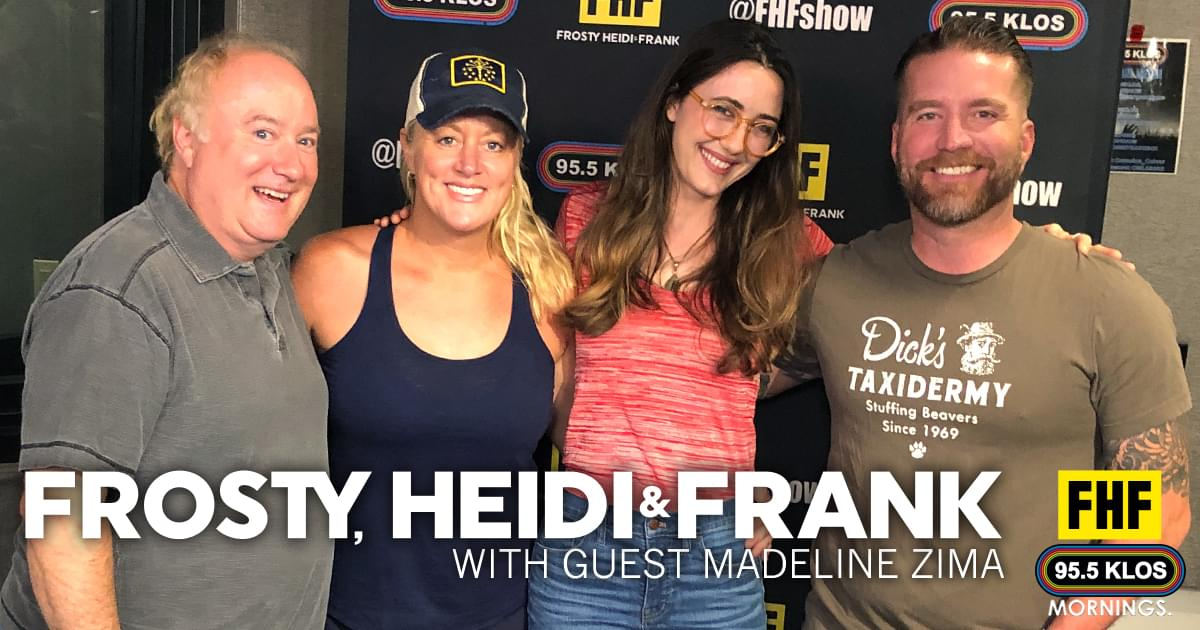 Frosty, Heidi and Frank with guest Madeline Zima