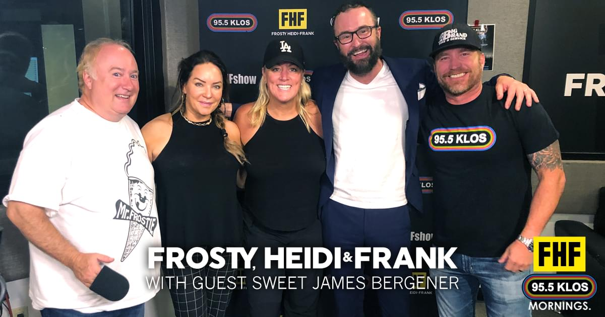 Frosty, Heidi and Frank with guest Sweet James Bergener