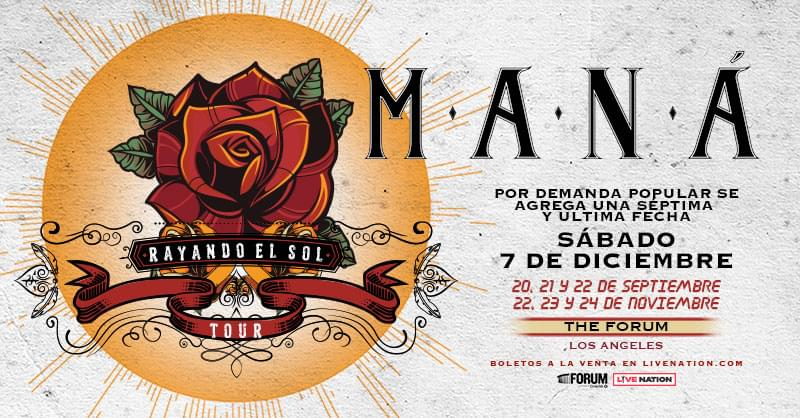 Win Tickets To See Mana on the Rayando El Sol Tour