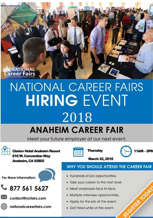 3/22 National Career Fairs-Anaheim