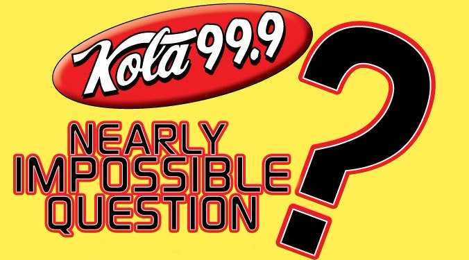 Nearly Impossible Question Week of 8/26/19