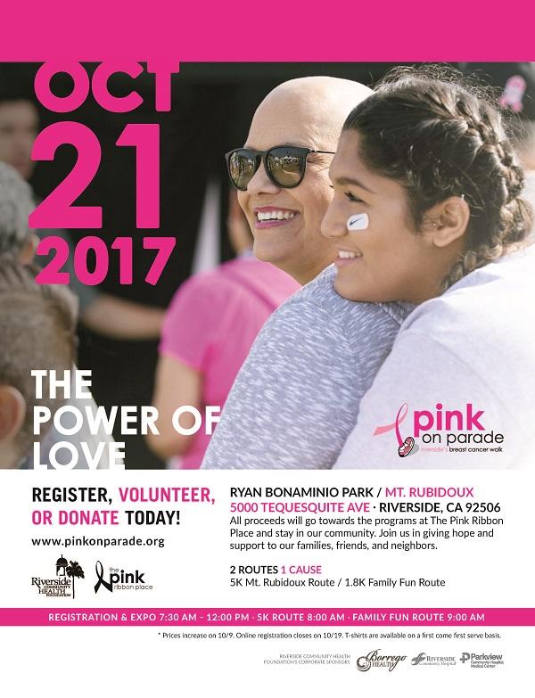 Pink On Parade in Riverside 10/21