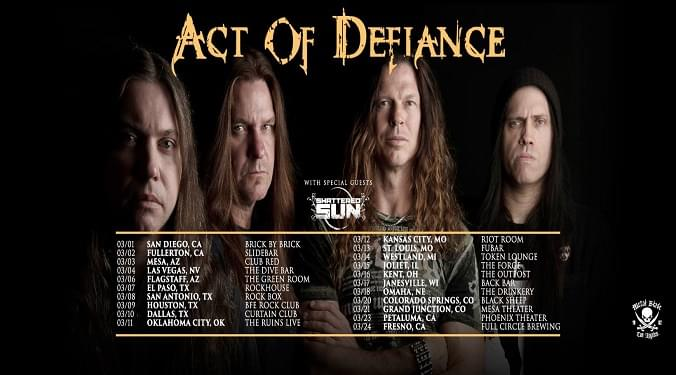 (LISTEN) Act Of Defiance at the NAMM convention talk to Mike Z