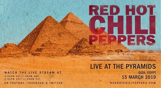 Watch Red Hot Chili Peppers Playing At The Pyramids In Egypt On Friday