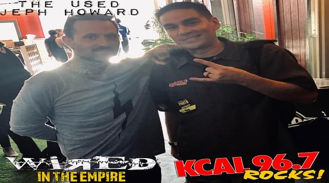 (LISTEN) The Used bassist Jeph Howard talks to Mike Z-Wired In The Empire