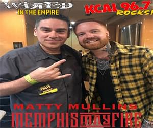 (LISTEN) Memphis May Fire singer Matty Mullins talks to Mike Z-Wired In The Empire