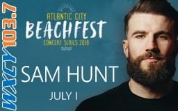 Win Tickets to AC Beachfest with Sam Hunt & Kane Brown 7/1