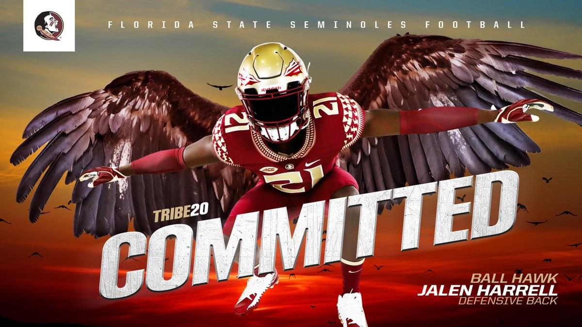 Florida State adds 4-star corner Jalen Harrell to 2020 class